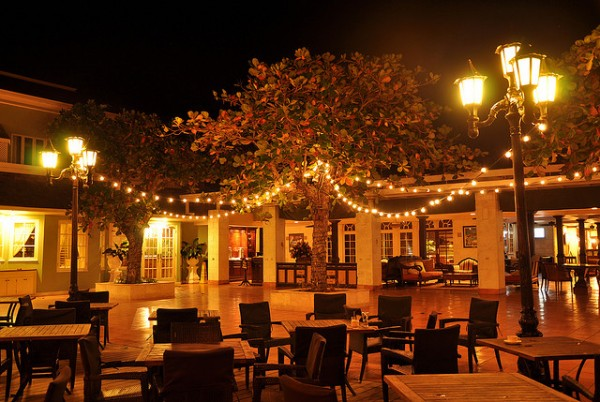 Bayside Dining Terrace at night, ©Loren Sztajer/Flickr